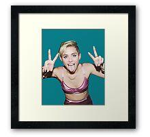 Funny Miley Cyrus - tri Framed Print