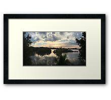 Sunset over Rathluba 6 Framed Print