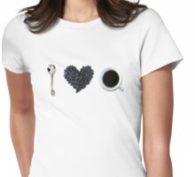 I love coffee Womens Fitted T-Shirt