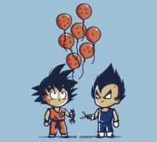 Funny Goku & Vegeta - Crystal Balloons Tshirt & Hoodie by teefighter