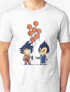 Funny Goku & Vegeta - Crystal Balloons Tshirt & Hoodie T-Shirt