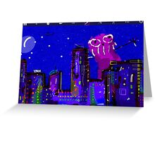 City Monster Greeting Card
