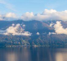 Alpine lake with mountains Sticker