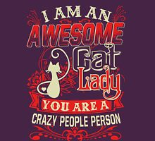 crazy cat lady-crazy people Womens Fitted T-Shirt