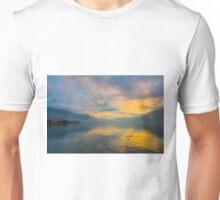 Alpine lake in sunrise Unisex T-Shirt