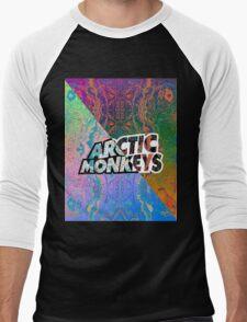Arctic Monkeys - Colorful Pattern 1 Men's Baseball ¾ T-Shirt