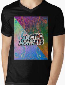 Arctic Monkeys - Colorful Pattern 1 Mens V-Neck T-Shirt