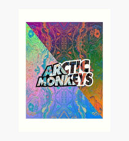 Arctic Monkeys - Colorful Pattern 1 Art Print