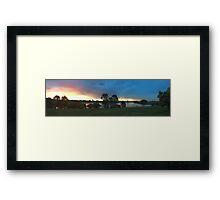 Sunset over Rathluba 8 Framed Print