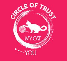 Circle of trust my cat Womens Fitted T-Shirt
