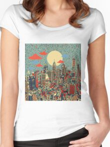 philadelphia panorama 3 Women's Fitted Scoop T-Shirt