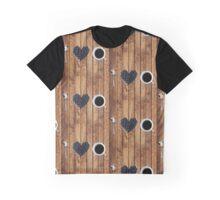 I love coffee on wood Graphic T-Shirt