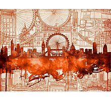 London city skyline Photographic Print