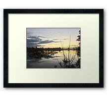 Sunset over Rathluba 9 Framed Print