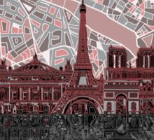 paris skyline abstract 7 Sticker