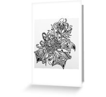 Fire Flower (Black and White)  Greeting Card