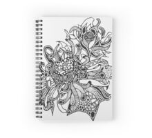 Fire Flower (Black and White)  Spiral Notebook