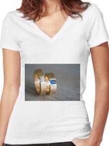 Engagement Rings Women's Fitted V-Neck T-Shirt
