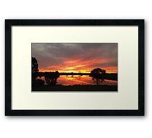 Sunset over Rathluba 10 Framed Print
