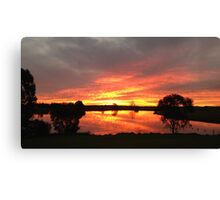 Sunset over Rathluba 10 Canvas Print