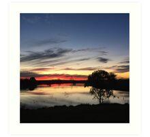 Sunset over Rathluba 11 Art Print