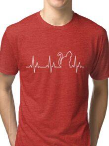 cat line Tri-blend T-Shirt