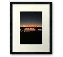 Sunset over Rathluba 12 Framed Print