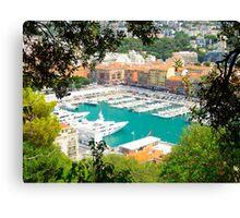 Nice Le Port : Cote D'Azure, France Canvas Print