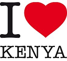 I ♥ KENYA Photographic Print