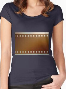 Film roll color Women's Fitted Scoop T-Shirt