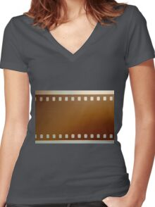Film roll color Women's Fitted V-Neck T-Shirt