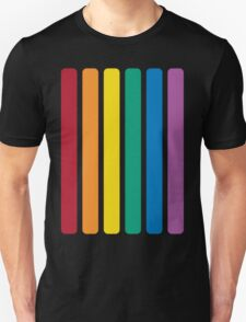 Rainbow Design with 6 Popular Colors of Red Orange Yellow Green Blue and Violet Unisex T-Shirt