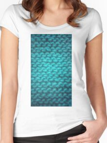Knit Texture 01 Women's Fitted Scoop T-Shirt