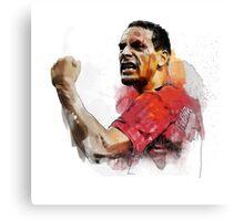 Rio ferdinand - MUFC _ fan art painting Canvas Print