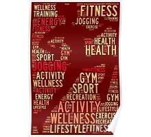 Fitness words Poster