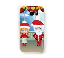 Santa and Mrs Claus in the House 2 Samsung Galaxy Case/Skin