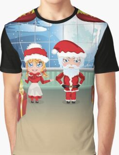 Santa and Mrs Claus in the House 2 Graphic T-Shirt