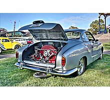 Silver Karmann Ghia rear view at Volksfest Photographic Print
