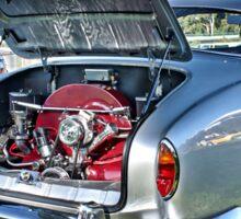 Silver Karmann Ghia rear view at Volksfest Sticker