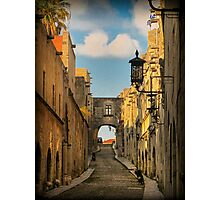 Old City of Rhodes - Templar's Road Photographic Print