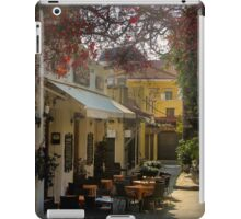 Old City of Rodhes - Cafe at the market iPad Case/Skin