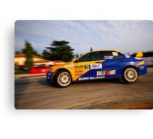 Rally car Canvas Print