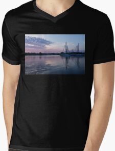 Soft Purple Ripples - Yachts and Clouds Reflections Mens V-Neck T-Shirt