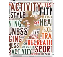 Fitness words iPad Case/Skin