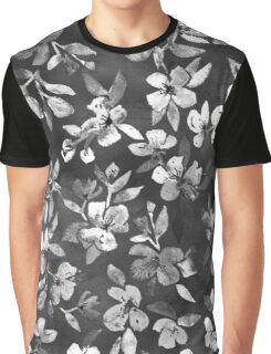 Blossoms on Charcoal Ink Graphic T-Shirt