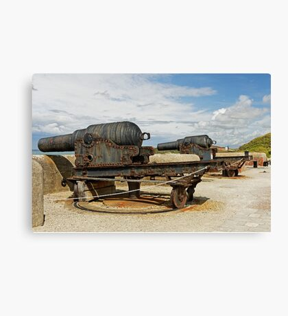 9 inch Guns at The Needles Old Battery Canvas Print