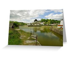 The Harbour With No Boats, Pentewan Greeting Card