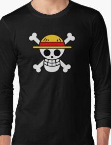 Luffy- Straw Hat Pirates Flag Long Sleeve T-Shirt