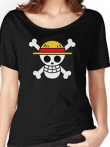 Luffy- Straw Hat Pirates Flag Women's Relaxed Fit T-Shirt