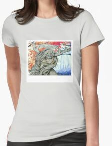 """Oh deer!"" Deer Girl Polaroid Design Womens Fitted T-Shirt"